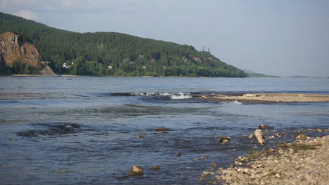 River Yenisei Waves Footage