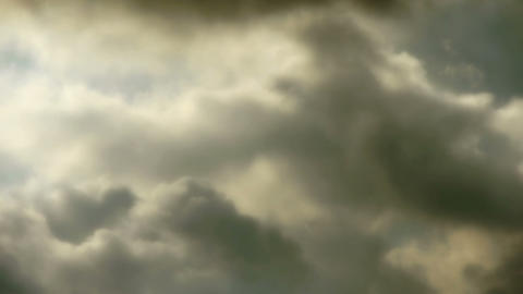 Spectacular clouds cover sky,Altocumulus,dusk Stock Video Footage