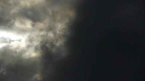 Spectacular clouds cover sky,Altocumulus,dusk,sandstorm Stock Video Footage