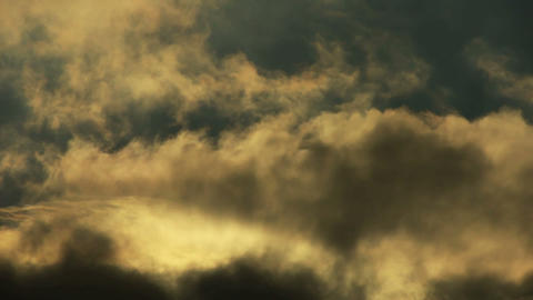 Spectacular clouds cover sky,Altocumulus,dusk,sandstorm Stock Video Footage