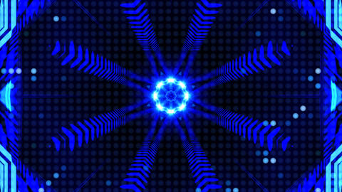 LED Light Kaleidoscope ST B4s HD Stock Video Footage