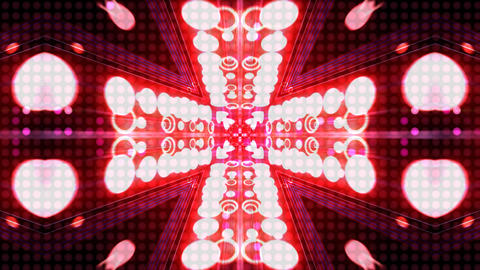 LED Light Kaleidoscope ST C2 HD Stock Video Footage