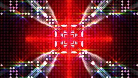 LED Light Kaleidoscope ST C2 HD Stock Video Footage