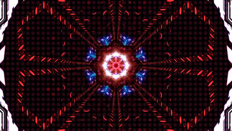 LED Light Kaleidoscope ST C4s HD Stock Video Footage