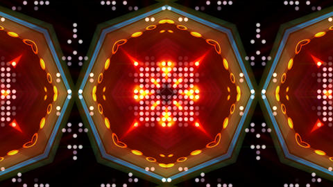 LED Light Kaleidoscope ST D1 HD Stock Video Footage