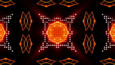 LED Light Kaleidoscope ST D1 HD Stock Video Footage