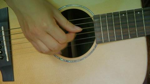 man playing guitar,strum Stock Video Footage