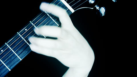 playing guitar,strum Stock Video Footage