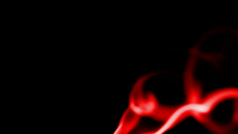 red smoke and flying silk Stock Video Footage