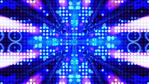 LED Light Kaleidoscope ST B2 HD Stock Video Footage