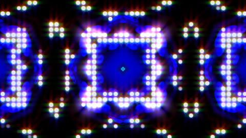 LED Light Kaleidoscope ST E1 HD Stock Video Footage