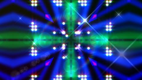LED Light Kaleidoscope ST E2F HD Stock Video Footage