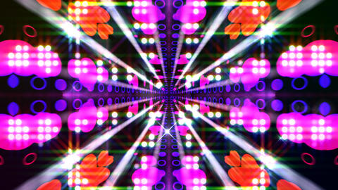LED Light Kaleidoscope ST E2F HD Animation
