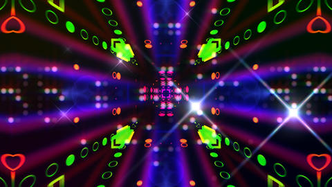 LED Light Kaleidoscope ST E2F HD Stock Video Footage
