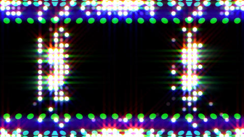 LED Light Kaleidoscope ST E3s HD Stock Video Footage