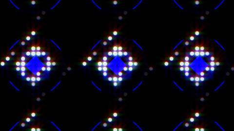 LED Light Kaleidoscope ST E4 HD Stock Video Footage