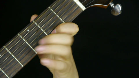 man playing guitar,strum Stock Video Footage