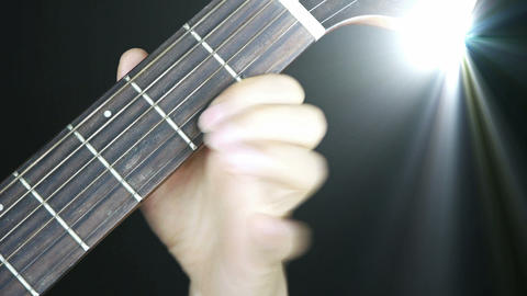 playing guitar,strum,disco rays lights Footage