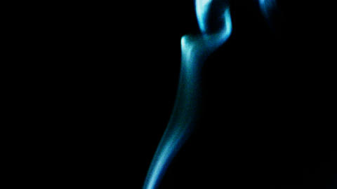 blue smoke like as silk Stock Video Footage