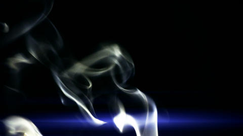 blue smoke like as silk Footage