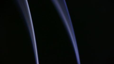 blue smoke like as silk Stock Video Footage