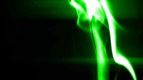 green smoke like as silk Stock Video Footage