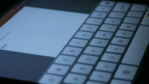 Virtual Keyboard,Typing an email on a touchscreen... Stock Video Footage