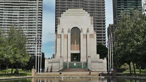 Anzac Memorial in Hyde Park Sydney 01 Stock Video Footage