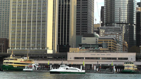 Circular Quay Port in Sydney 03 Footage