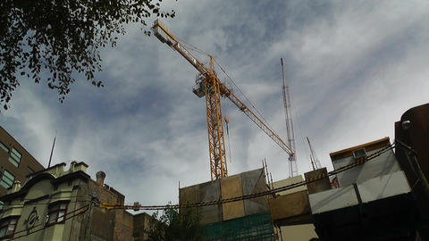 Construction Work and Crane 01 Footage
