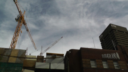Construction Work and Crane 03 Stock Video Footage