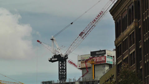 Construction Work and Cranes in Sydney 01 Stock Video Footage