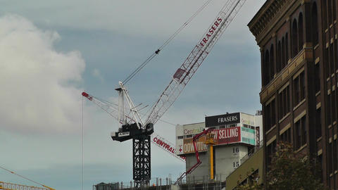 Construction Work and Cranes in Sydney 01 Footage