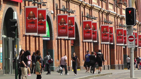 Haymarket Sydney Market City Hay Street 02 Stock Video Footage