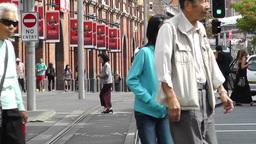 Haymarket Sydney Market City Hay Street 04 traffic Stock Video Footage