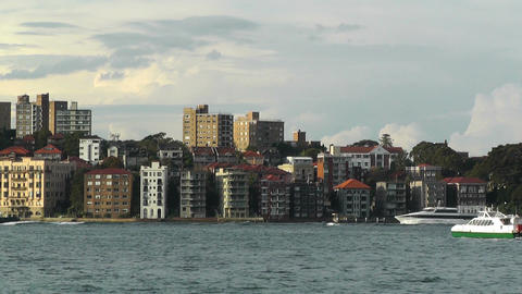 North Sydney view 05 Stock Video Footage