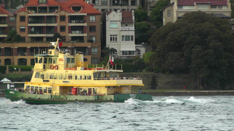 North Sydney view 09 ferry Stock Video Footage