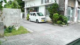 Rural Japanese Town in Okinawa Islands 16 car handheld Stock Video Footage