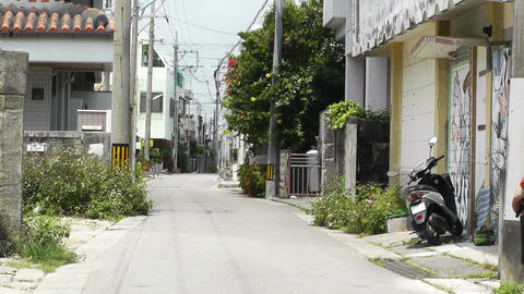 Rural Town in Okinawa Islands 22 street Stock Video Footage