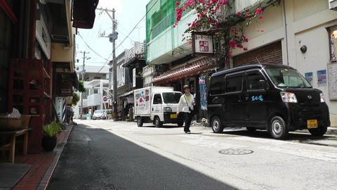 Rural Town in Okinawa Islands 24 street Stock Video Footage