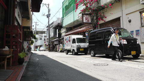 Rural Town in Okinawa Islands 24 street Footage