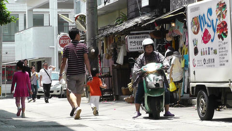 Rural Town in Okinawa Islands 26 street Stock Video Footage
