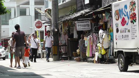 Rural Town in Okinawa Islands 26 street Stock Video Footage