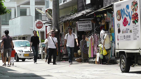 Rural Town in Okinawa Islands 26 street Footage