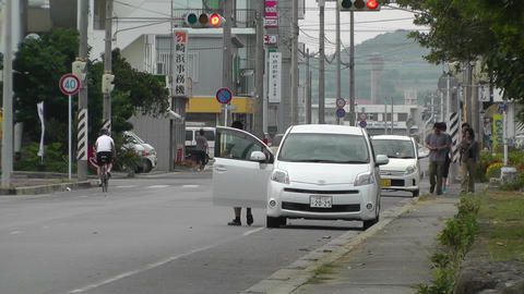 Rural Town Street in Japan 21 Stock Video Footage