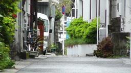 Rural Town Street in Okinawa Islands 04 Stock Video Footage
