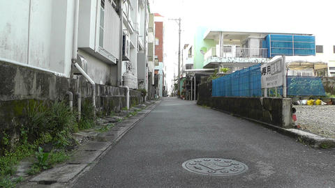 Rural Town Street in Okinawa Islands 17 Stock Video Footage
