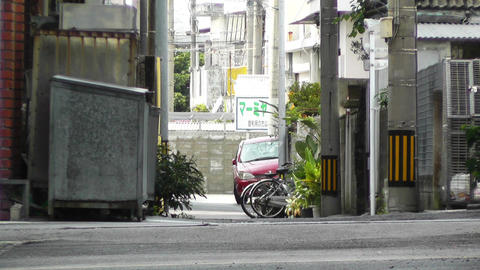 Rural Town Street in Okinawa Islands 19 Stock Video Footage