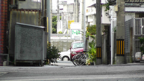 Rural Town Street in Okinawa Islands 19 Footage