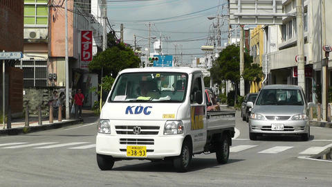 Rural Town Traffic in Okinawa Islands 05 Stock Video Footage